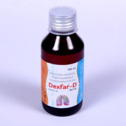 DEXPHAR-D=Chlorpheniramine maleate 2 mg, + Dextromethorphan Hydrobromide10mg + Phenylephrine hydrochloride 5 mg (100 ml Syrup Bottle) (Anti Cough)