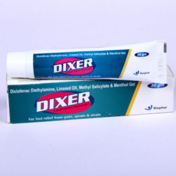 DIXER GEL=Diclofenac + Linseed Oil 30 GM (OINTMENT) Tube (analgesic)