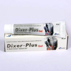 DIXER-PLUS GEL=Linseed oil,Diclofenac sodium,Methyl salicylate,Capsaicin & menthol (OINTMENT) 30gm Tube (analgesic)