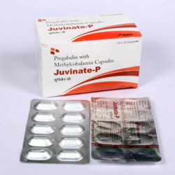 JUVINATE-P=Pregabalin 75mg. + Methylcobalamin 750mcg.(Capsules) 10x10 Alu-Alu (NEUROLOGY)