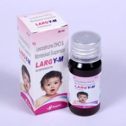 LARGY-M =Levocetirizine Dihydrochloride & Montelukast suspension (30 ml Bottle (anti-allergic)
