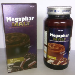 Megaphar Malt =Enriched With Soya Protein & Natural Herbs( 400 gm BottlePack)malt (nutraceuticals)