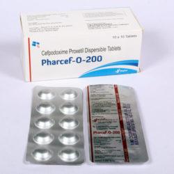 PHARCEF-O-200 Cefpodoxime 200mg (Tablets) 10x10 Alu-Alu (ANTI-BIOTIC)