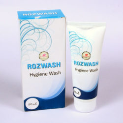 ROZWASH =VAGINAL WASH -FOR SENSITIVE SKIN (100 ml lotion Bottle) (feminine hygiene cleanser)