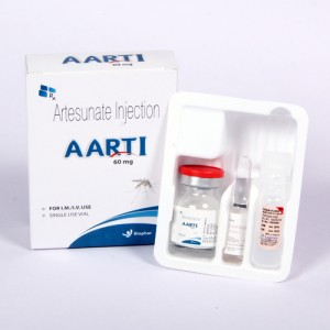 AARTI 60 MG=Artesunate 60mg(Injection)1s ampoule  with tray (anti-malarial)