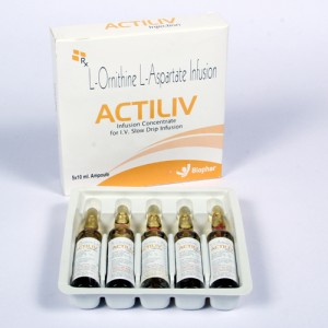 ACTILIV=L-Ornithine - L-Aspartate 5g (Injection) 5x2 ml vial with tray (hepatology)