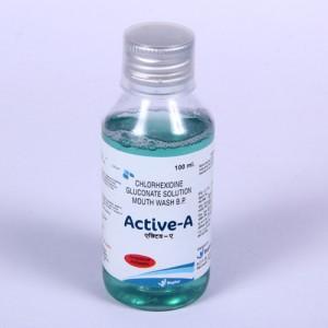 ACTIVE-A=Chlorhexidine Gluconate Solution (Mouthwash) 100 ml bottle ( germicidal mouthwash)