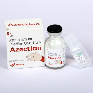 AZECTION=Aztreonam 1000mg (Injection)1's with d.w Ampoule (anti-biotic)