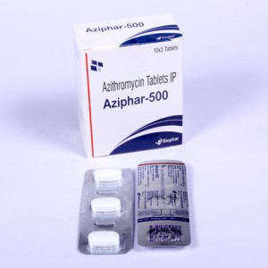 AZIPHAR-500=Azithromycin 500mg (Tablets)10x3 Blister(ANTI-BIOTIC)