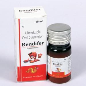 BENDIFER =Albendazole Oral (Suspension) 10ml bottle (anti-helmentic)